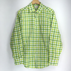 Izod 17 34/45 Shirt Button Down Front Slim Fit